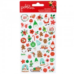2 Planches de stickers Noël - Pebbles