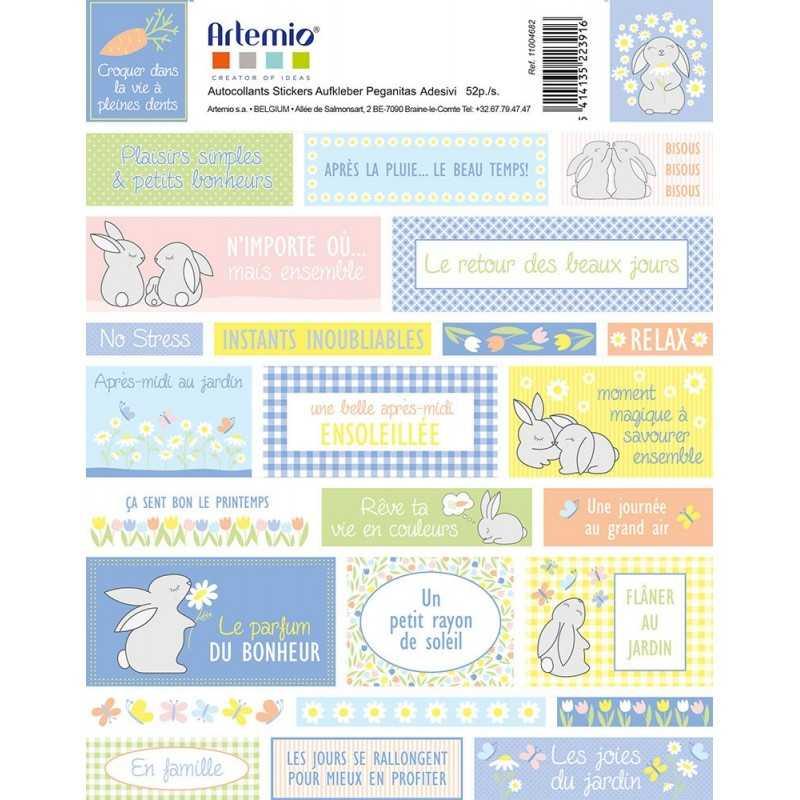 2 planches de stickers paquerettes ARTEMIO