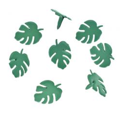 10 Attaches parisiennes feuilles vertes