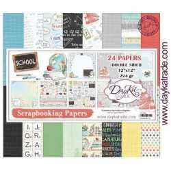 Pochette de 24 feuilles DayKa School