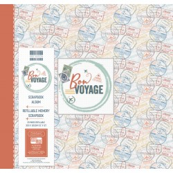 Album de scrapbooking 30cm x 30cm Bon voyage