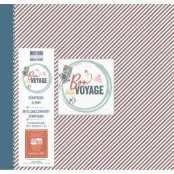Album de scrapbooking 30cm x 30cm Bon voyage 1