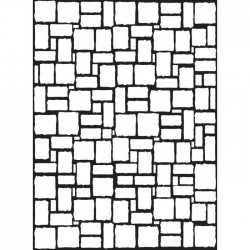 Die classeur d'embossage mur de briques