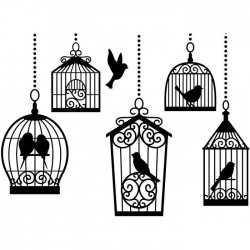 Die classeur d'embossage cages d'oiseaux Darice