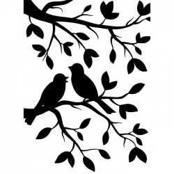 Die classeur d'embossage oiseaux sur une branche Darice