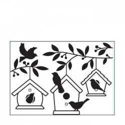 Die classeur d'embossage maisons d'oiseaux dans les arbres