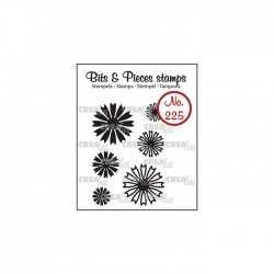 Tampon transparent CREALIES Bits & Pieces n°225 petites fleurs