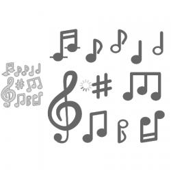 Dies notes de musique