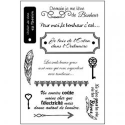 """Tampons transparents """"moments de bonheur"""""""