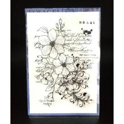 Tampon transparent de fond floral