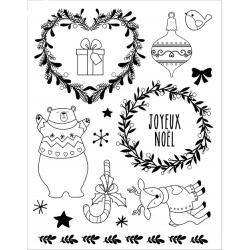 Tampons transparents ours de Noël ARTEMIO