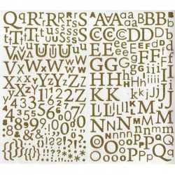 300 alphabets autocollants pailletés dorés