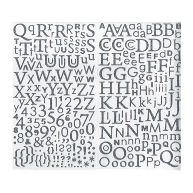 300 alphabets autocollants pailletés argentés