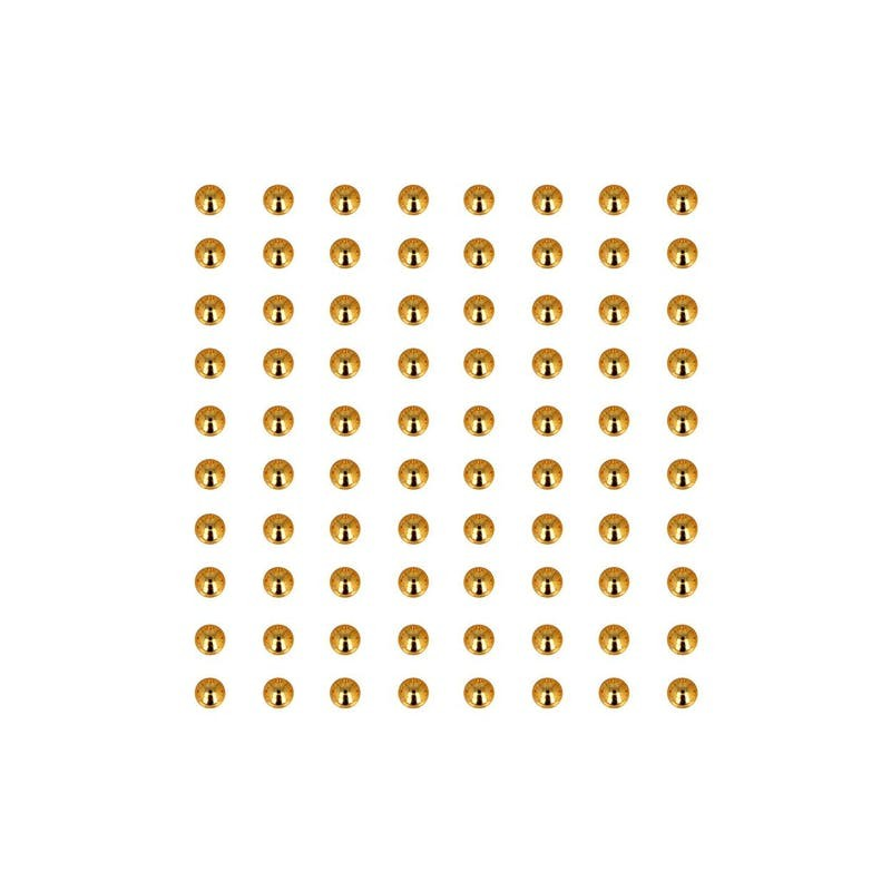 80 perles adhésives dorées - ARTEMIO