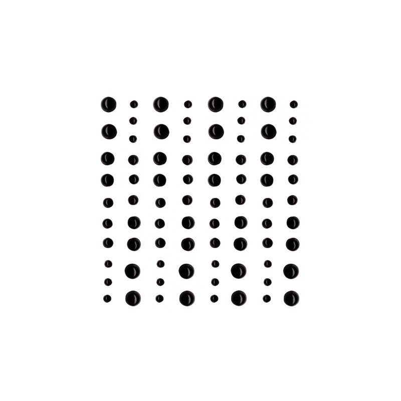 80 perles adhésives noires - ARTEMIO