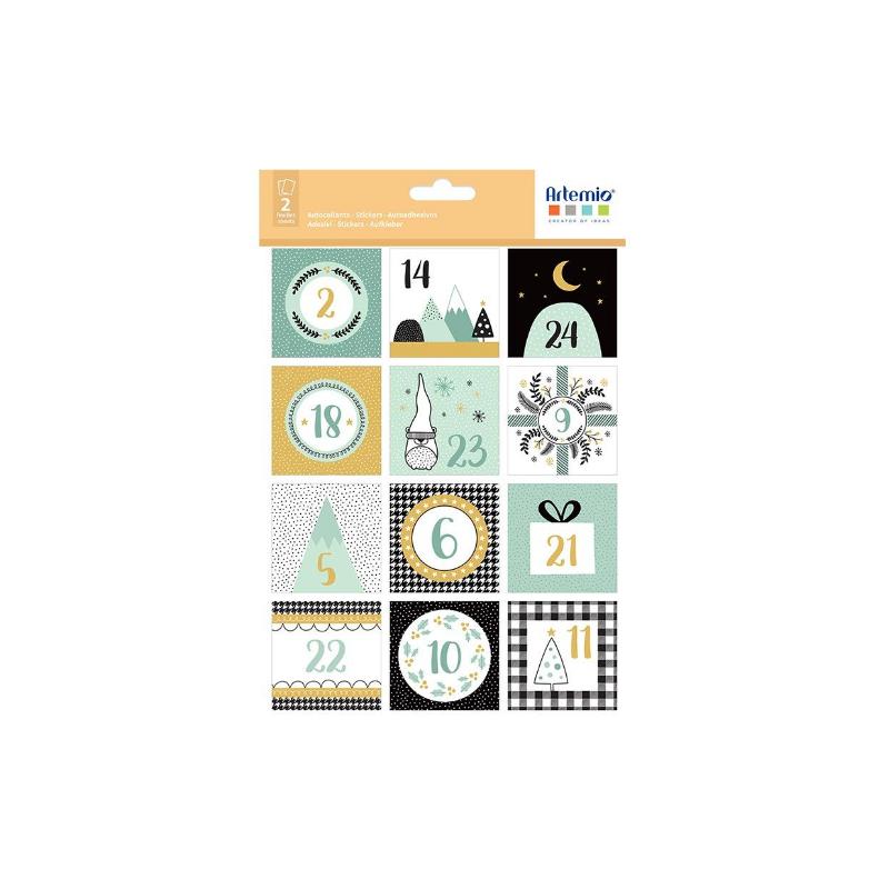 2 Planches de 24 stickers Imagine Noël - ARTEMIO