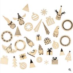 34 mini silhouettes Imagine Noël- ARTEMIO