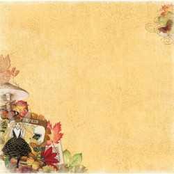 Papier recto verso Enchanted harvest Bo Bunny