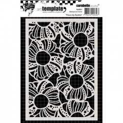 Pochoir art template fleurs...