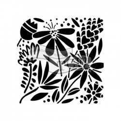 Pochoir template Summer Burst - The Crafter's Workshop