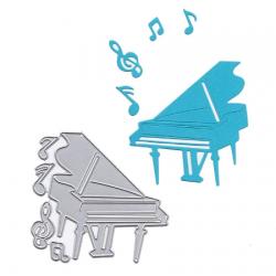 Dies piano et notes de musique
