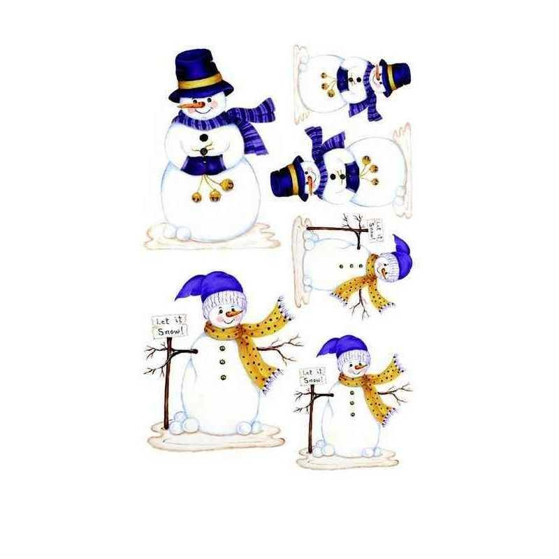 Transfert rub-on bonhomme de neige ROYAL