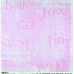 Papier recto verso 30,5cm x 30,5cm bébé fille sweet tiny