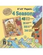 Blocs ou pochettes de feuilles de scrapbooking 20,5cm x 20,5cm